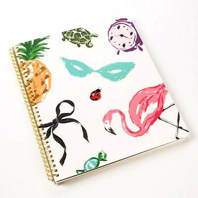 Kate Spade  Large Spiral Notebook, Favorite Things, 160 Pages  New in Pack