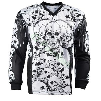 IDP Jersey The Skulls Weiss Paintball Trikot