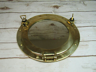 Brass Porthole Mirror Nautical Round Wall Hanging