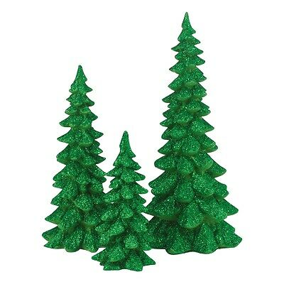 Dept 56 General Accessories-- Green Holiday Trees -- NIB -- Free Shipping