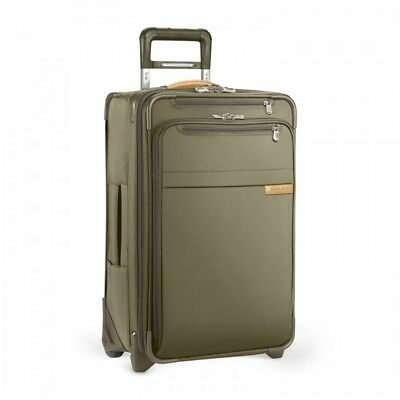 New Briggs & Riley U122Cx-7 Baseline Domestic Carry-On Expandable Upright Olive