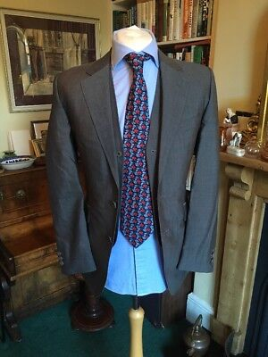 Gieves And Hawkes Bespoke Personally Tailored Grey Jacket And Waistcoat