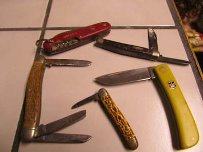 Vintage Knives - Lot Of 5 - Klaas, Case, Camillus, Colonial & Unmarked Knife