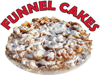 Funnel Cakes Vinyl Decal (Choose Your Size) Concession Stands Boardwalk Shops
