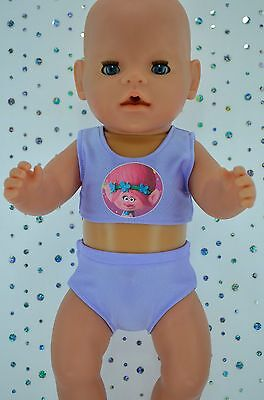 "Play n Wear Doll Clothes For 17"" Baby Born LILAC SWIMMING BIKINI"