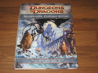 D&D 4th Edition Forgotten Realms Neverwinter Campaign Setting WotC HC + Map New