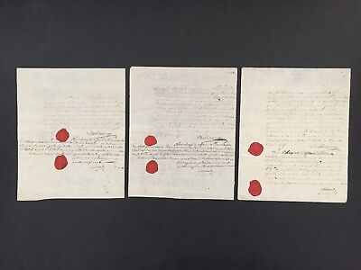 1789 THREE Documents Signed by French Diplomat & Charge d'Affaires at the Hague
