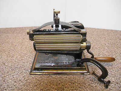 Antique Crown Fluter Iron Brass Rollers American Machine Co Pat'd March 23, 1880