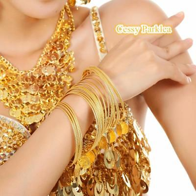 Belly Dance Accessories Bollywood Jewelery Handmade Metal Bangles Bracelet Coins
