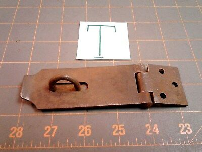 Steel Folding HINGED HASP and KEEPER HARDWARE Vintage No. T