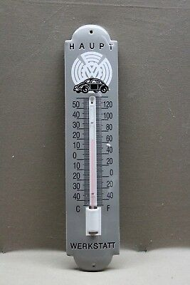 Volkswagon Split Window Bug  Porcelain Thermometer Sign Gas Oil Germany Bus