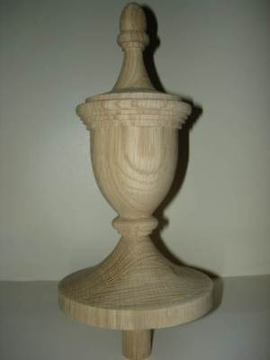 WOOD FINIAL UNFINISHED FOR NEWEL POST FINIAL OR CAP  Finial #54