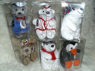 Collectible Coca Cola Christmas Bean Toy Lot   Polar Animals     6 In Set