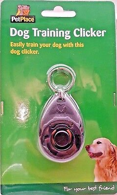 PetPlace Clicker Control Dog Puppy Training Guide included Dog Clicker UK Stock