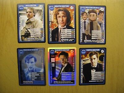 Doctor Who Collectors Cards - Monster Invasion Extreme X 6 (Doctor)