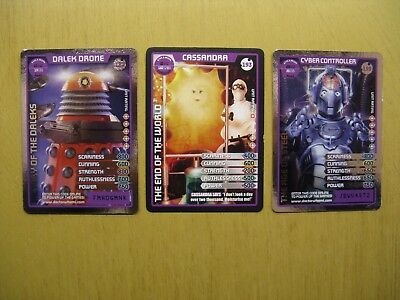 Doctor Who Collectors Cards - Monster Invasion Extreme X 3 (Villian)