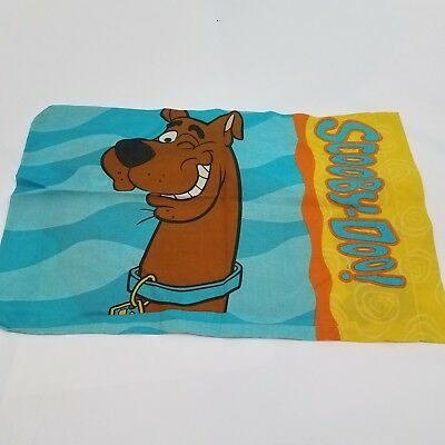 Scooby doo pillow case vintage 1998 90s blue hanna barbera