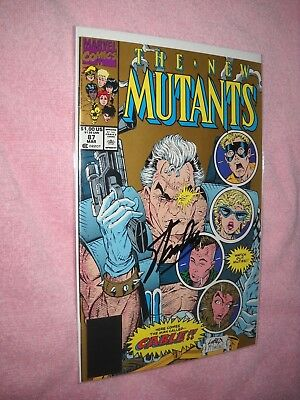 The New Mutants # 87 STAN LEE SIGNED Second Printing comic 1990 CGC IT!