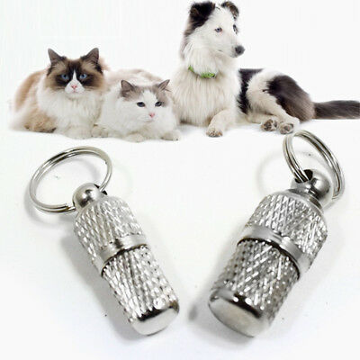 Cat name Dog Name tag barrel tube Dog Pet ID ( write details inside) Discount UK