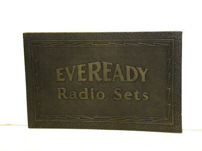ANTIQUE EVEREADY RADIO SETS STORE ADVERTISING SIGN 1930s BATTERY SIGN EXCELLENT