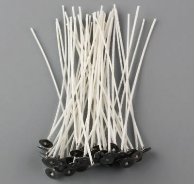 """Candle Wicks 8"""" 50PCS Cotton Core Pretabbed Candle Making Supplies"""