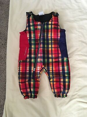 NWOT Obermeyer Snow Suit Size 6M-12M Boys Girls Unisex Red Plaid