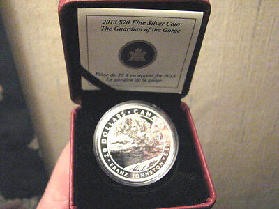 Canada 2013 $20 Franz Johnston The Guardian of the Gorge Proof Silver Coin grp7