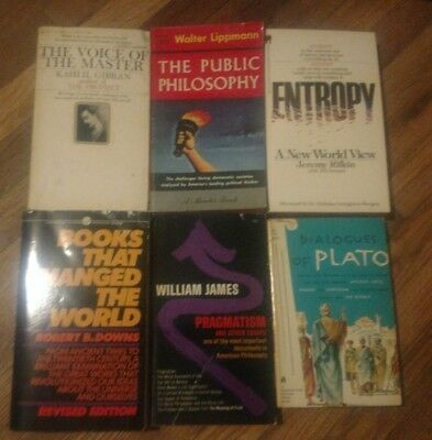 lot of 6 vintage pbs the public philosophy dialogues of plato pragmatism