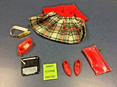 1960s Ideal Vintage Tammy Doll Outfit #9133-0 School Daze - complete