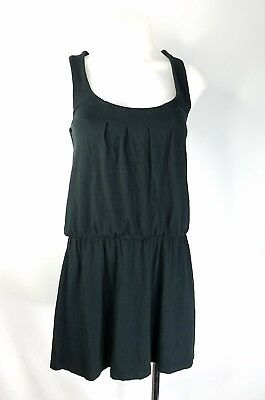 White House Black Market WHBM Black V-Neck Sleeveless Top Criss Cross Pattern XS