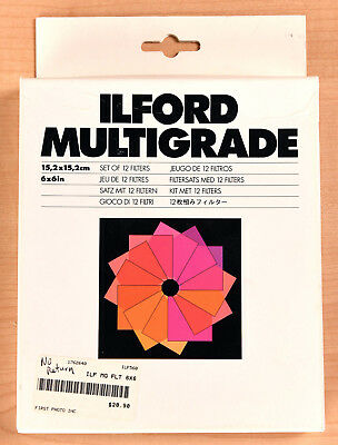 ILFORD Multigrade Set of 12 Color Darkroom Filters Photography FREE SHIPPING!