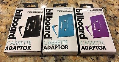 Billboard CASSETTE ADAPTOR use with Smart Devices, Choose Color