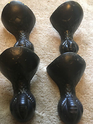 4 Antique Shabby Victorian Cast Iron Ball & Claw Foot Bath Tub Eagle Feet Legs