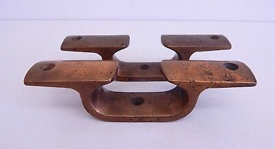 Vintage Pair of Brass Ships Boat Heavy Cleats Nautical Maritime Marine