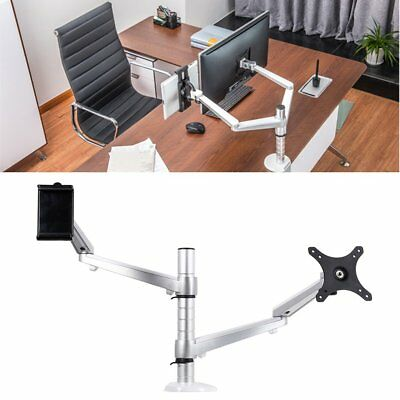 2 In 1 Adjustable Laptop Combination Bracket LESHP Dual Arm Laptop Holder Lot FK
