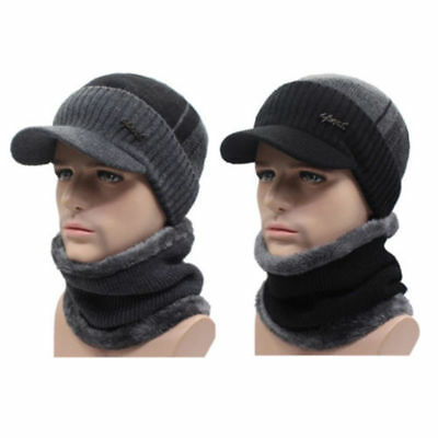 Winter Beanies Hat Men Women Wool Scarf & Cap Balaclava Mask Bonnet Knitted Hat