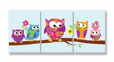 The Kids Room by Stupell Owls On A Branch 3-Pc. Rectangle Wall Plaque Set 11 ...