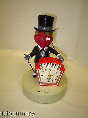 Vintage Heinz Ketchup Top Hat Mr Tomato Man 57 Variety Alarm Clock Promo