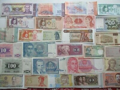 28 Different Banknotes Circulated And Uncirculated.////////