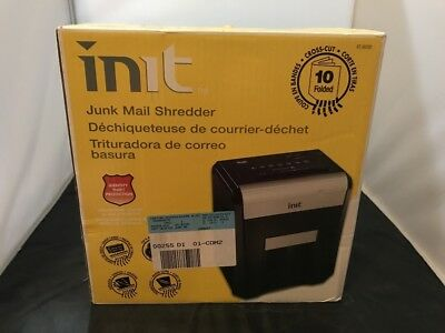 Brand New Init Junk Mail Paper Shredder 10 Sheets Cross Cut Nt-Jm100