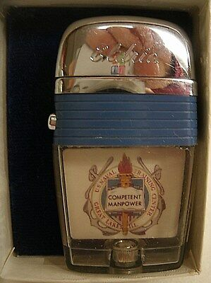 Vintage see thru cigarette lighter US NAVAL TRAINING CENTER Great Lakes, ILL