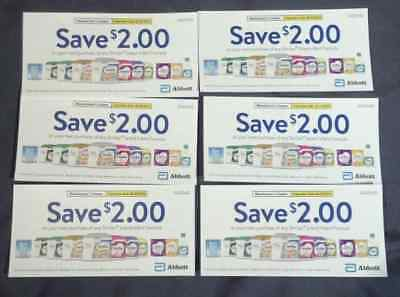 Six $2.00 Similac formula coupons - $12.00 in coupons - exp. 6-30-18