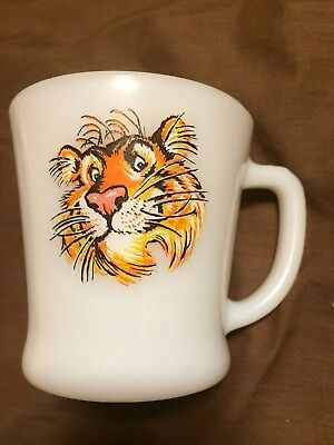Fire King Esso Tiger Advertising Coffee Mug -  Free Ship