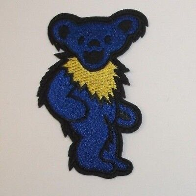 """Grateful Dead Dancing Bear Embroidered Applique Patch~3 1/8"""" x 1 15/16""""~Iron~Sew"""
