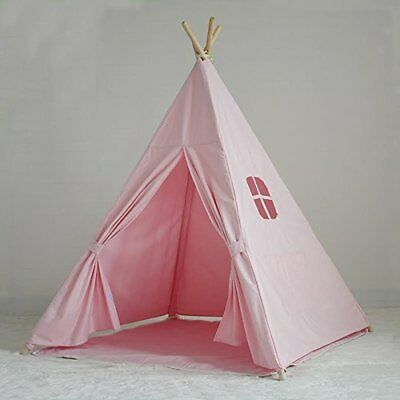Children's Canvas Teepee Playhouse Tent - 100% Cotton - New Zealand Pine Wood...