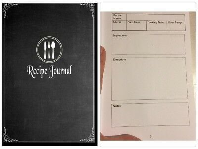 Write In Blank Cookbook Recipe Journal Over 115 Special Recipes Diary Organizer