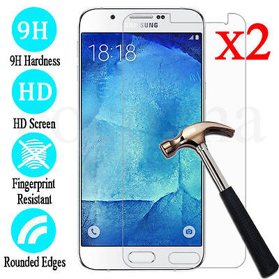 2Pcs NEW Tempered Glass Screen Protector Film For Samsung Galaxy J3 J5 J7 2017