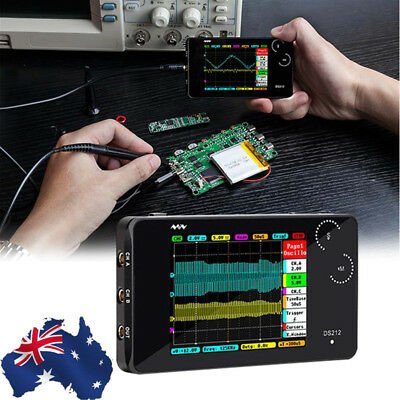 Small Pocket-sized DS212 Mini Digital Oscilloscope Set 2 Channels 1MHz 10MSa/s
