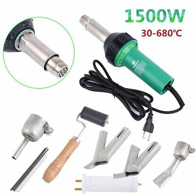Hot Air Torch Plastic Welding Gun Welder Pistol 1500W 30°C - 680°C w/ Nozzle VP