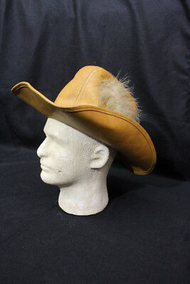 United Hatters Cap And Millinery Workers Int'l Union Leather Cowboy Hat Sz.M-B28